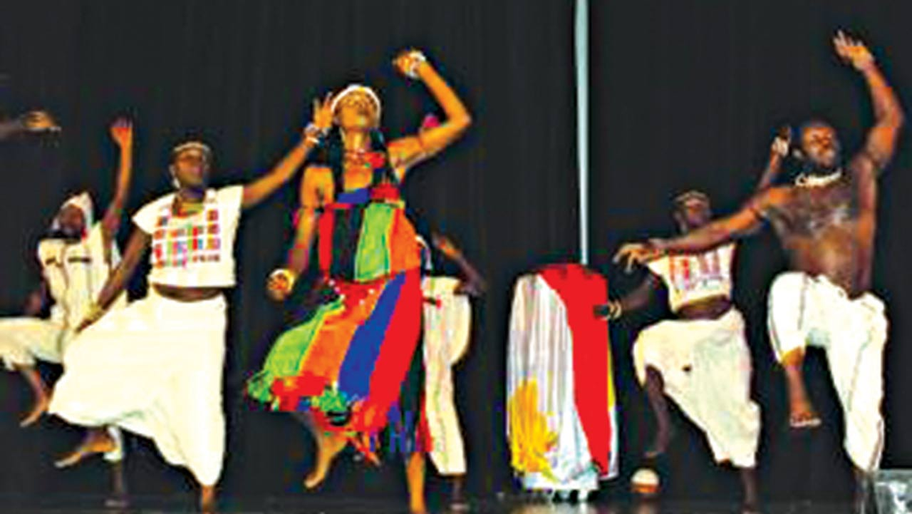 National Troupe of Nigeria during one of their performances