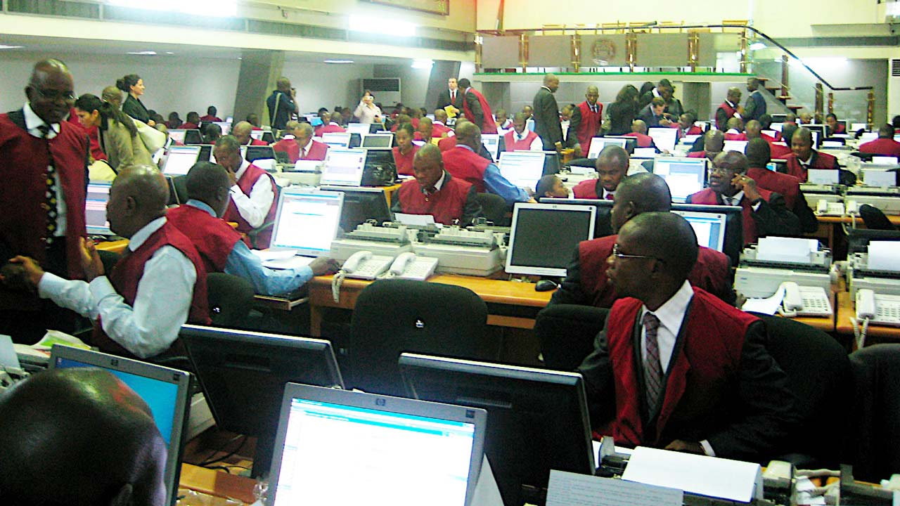 Trading floor of NSE, Lagos