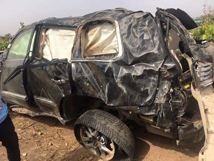 Ocholi, Minister of State for Labour and Employment, died in the crash at kilometre 34, on the Kaduna-Abuja expressway, near Rijana village, on Sunday, March 6, 2016. PHOTO: Ladidi Lucy Elukpo