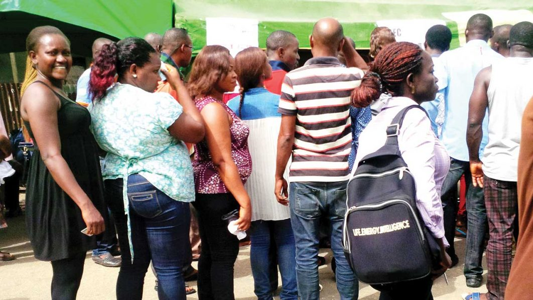 Voters exercising their franchise during the Rivers State re-run election (also above)