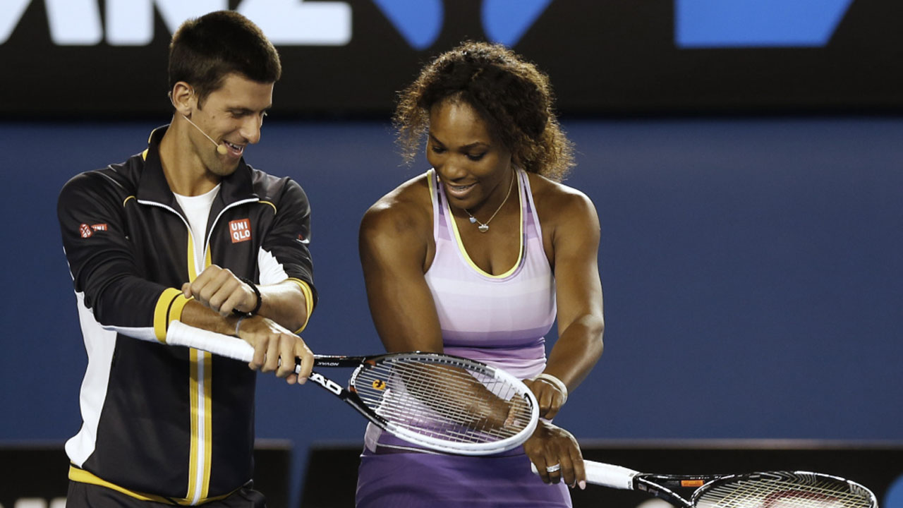 at the Australian Open tennis championship in Melbourne, Australia, Saturday, Jan. 12, 2013. (AP Photo/Andy Wong)