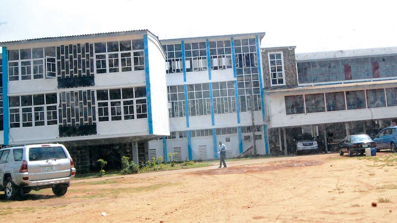 Undergoing renovation... State High Court, Iyaganku, Ibadan