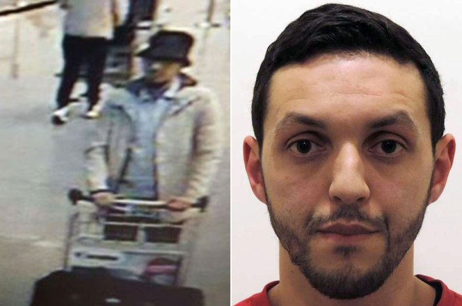 Mohamed Abrini (right) is believed to be the third suspect from the Brussels airport bombing. Photo: ZumaPress.com;EPA