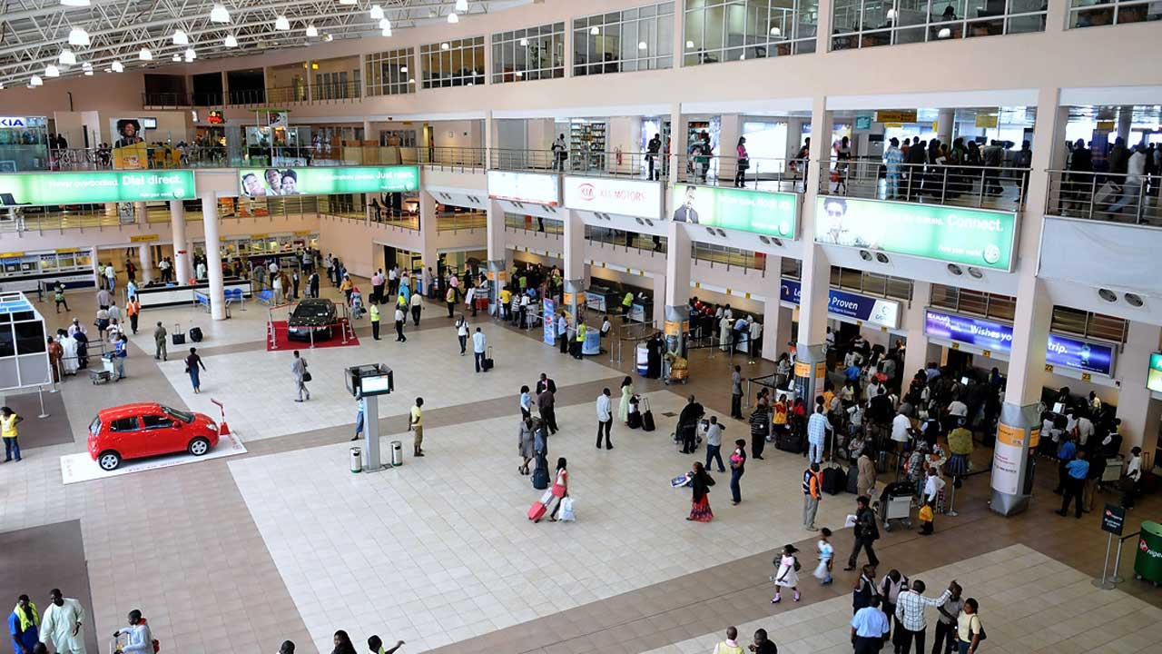 Hall of the domestic terminal, Murtala Muhammed Airport, Lagos