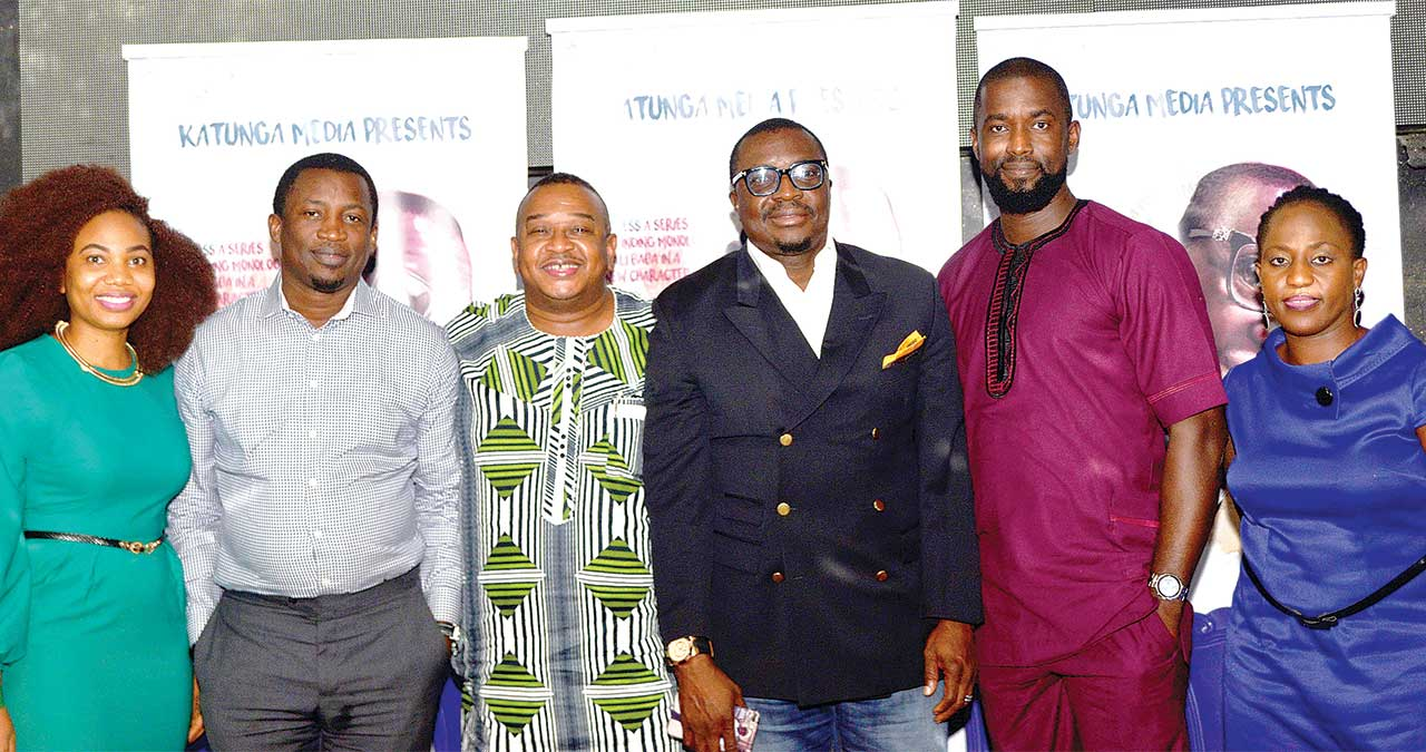 MD, Katunga Media Limited, Betty Abang; author and executive producer, Loud Whispers, Joseph Edgar; Executive Producer, Olisa Adibu; lead thespian, Alibaba; director, Loud Whispers, William Benson; and producer, Mofoluwake Edgar.