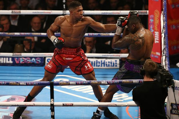 Joshua against Dillian Whyt PHOTO:AFP