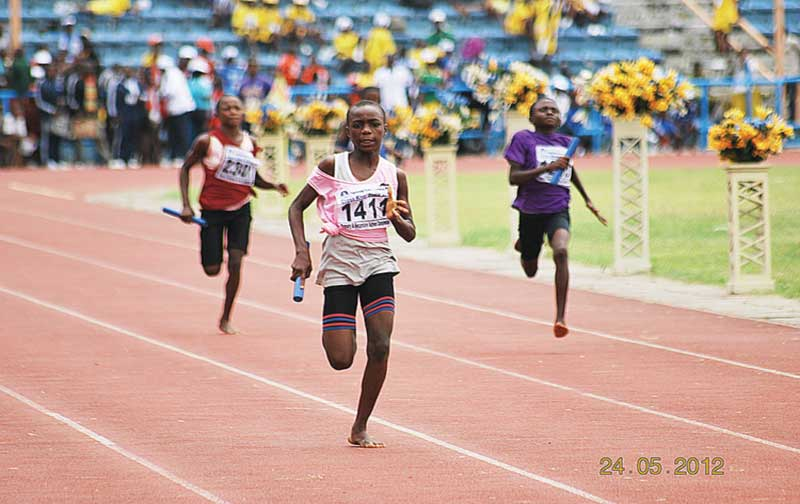 Students doing the 4x100m relay during a recent Cross River Schools Athletics Championship. Isaac Ogada believes Nigerian athletics will rise again if the authorities paid attention to schools sports.