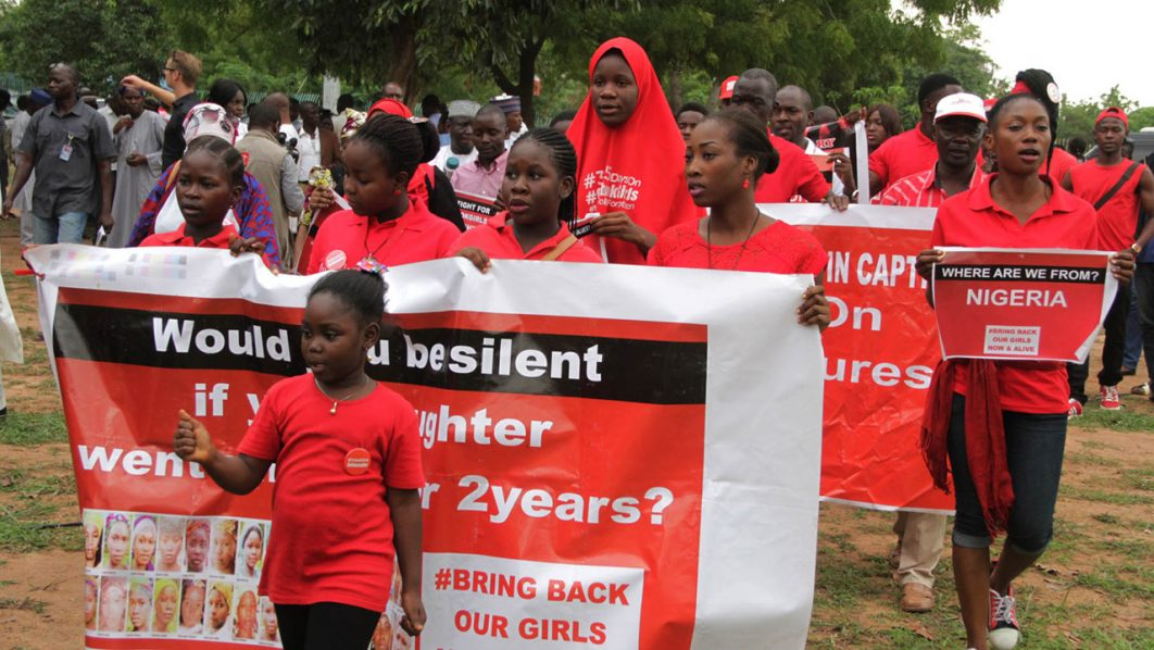 Children at an event marking the second anniversary of the abduction of the Chibok schoolgirls in Abuja…yesterday PHOTO: PHILIP OJISUA