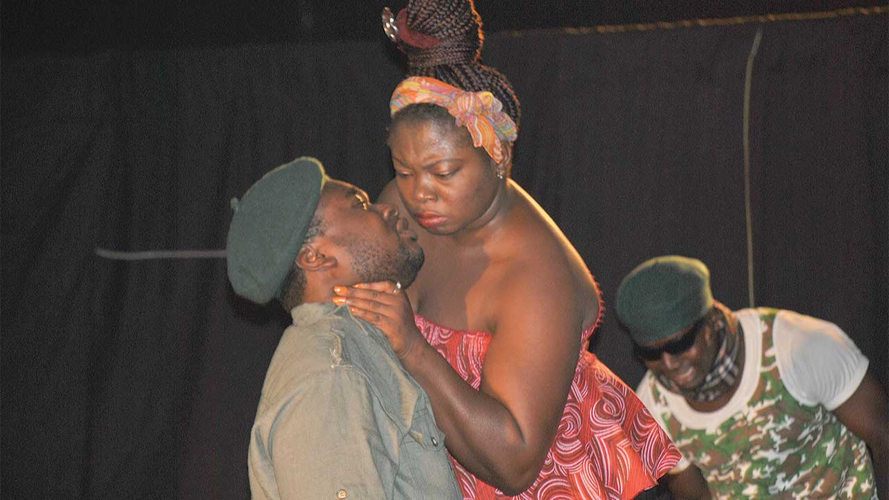 A scene form the play Baabu