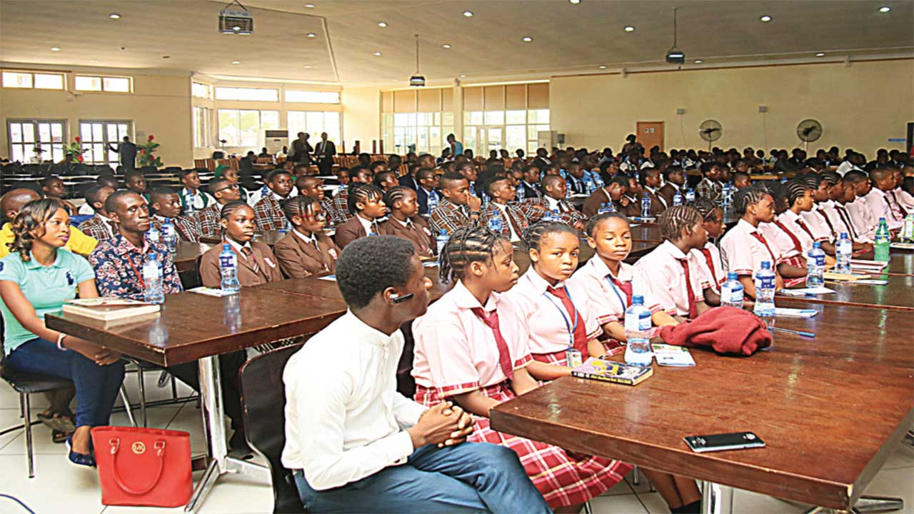 Cross section of students at the expo