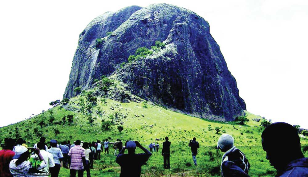 Tourists at the Benue hills