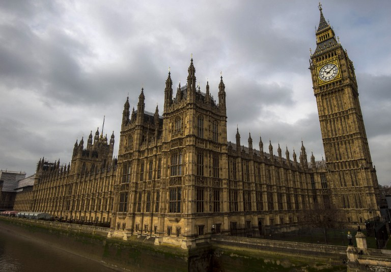 """TO GO WITH AFP ELECTION STORY by DENIS HIAULT A general view of of the Palace of Westminster, with the Great Westminster Clock, more commonly known as """"Big Ben"""" seen on April 5, 2015 in London. In one month, Britain votes in a general election likely to put the nail in the coffin of two party politics and herald an uncertain future of coalitions, alliances and horse-trading. Neither of the two parties which have dominated parliament since the 1920s, the Conservatives and Labour, are expected to win the 326 House of Commons seats out of 650 needed to govern alone. AFP PHOTO / NIKLAS HALLE'N"""