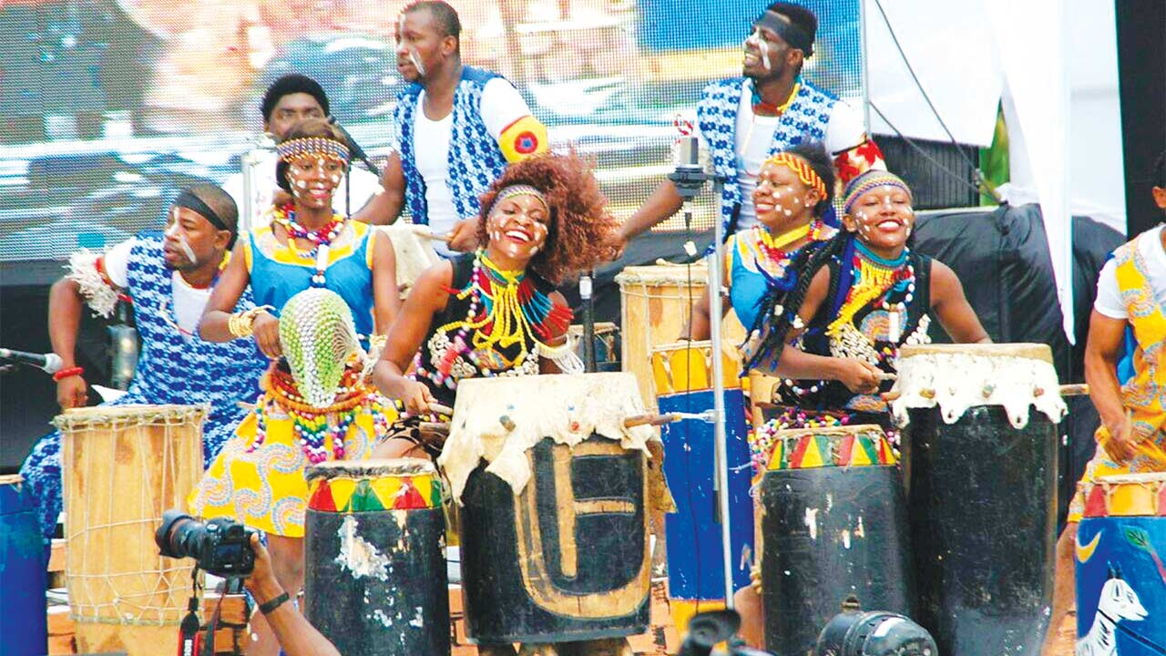 Female drummers also thrilled at the maiden edition of Nigerian Drums Festival held recently in Abeokuta