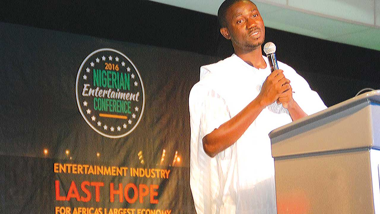 Convener, Nigerian Entertainment Conference, Adekunle Ayeni making his opening remark