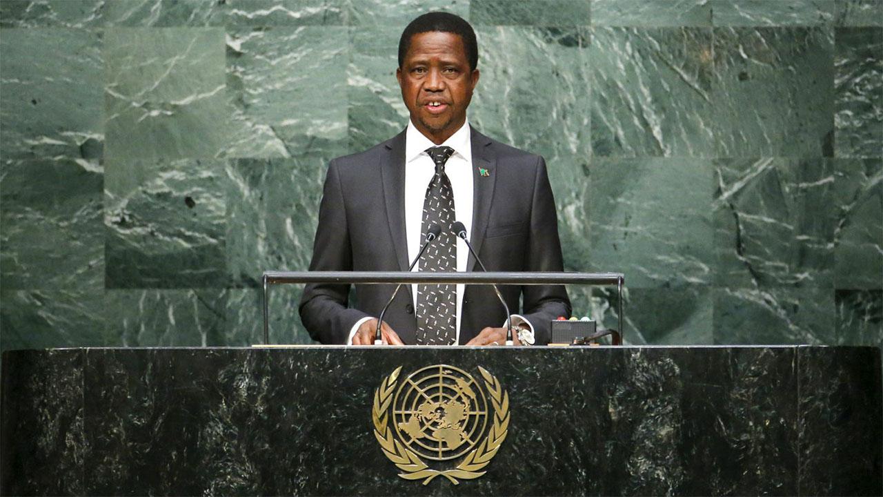 Zambian President Edgar Chagwa Lungu. Picture: AFP