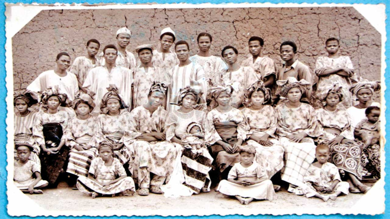 Adeojo Photos - Naming Ceremony showing long history of asoebi, date- mid 1950s