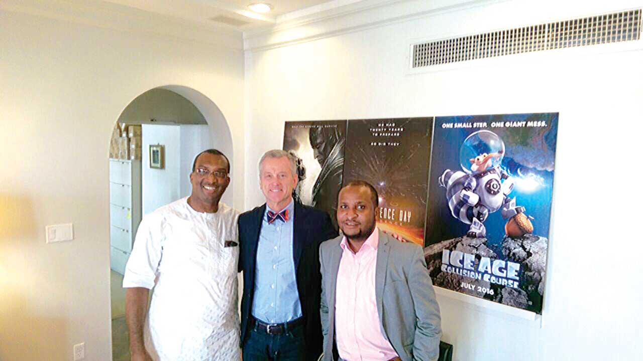 Group MD/CEO, FilmHouse Cinema and FilmOne Distribution, Mr. Kene Mkparu; President, Worldwide Theatrical Marketing and Distribution, Mr. Paul Hanneman and Group Executive Director, COO FilmHouse Cinemas and FilmOne Distribution, Mr. Moses Babatope at the recent signing of MoU with 20th Century Fox