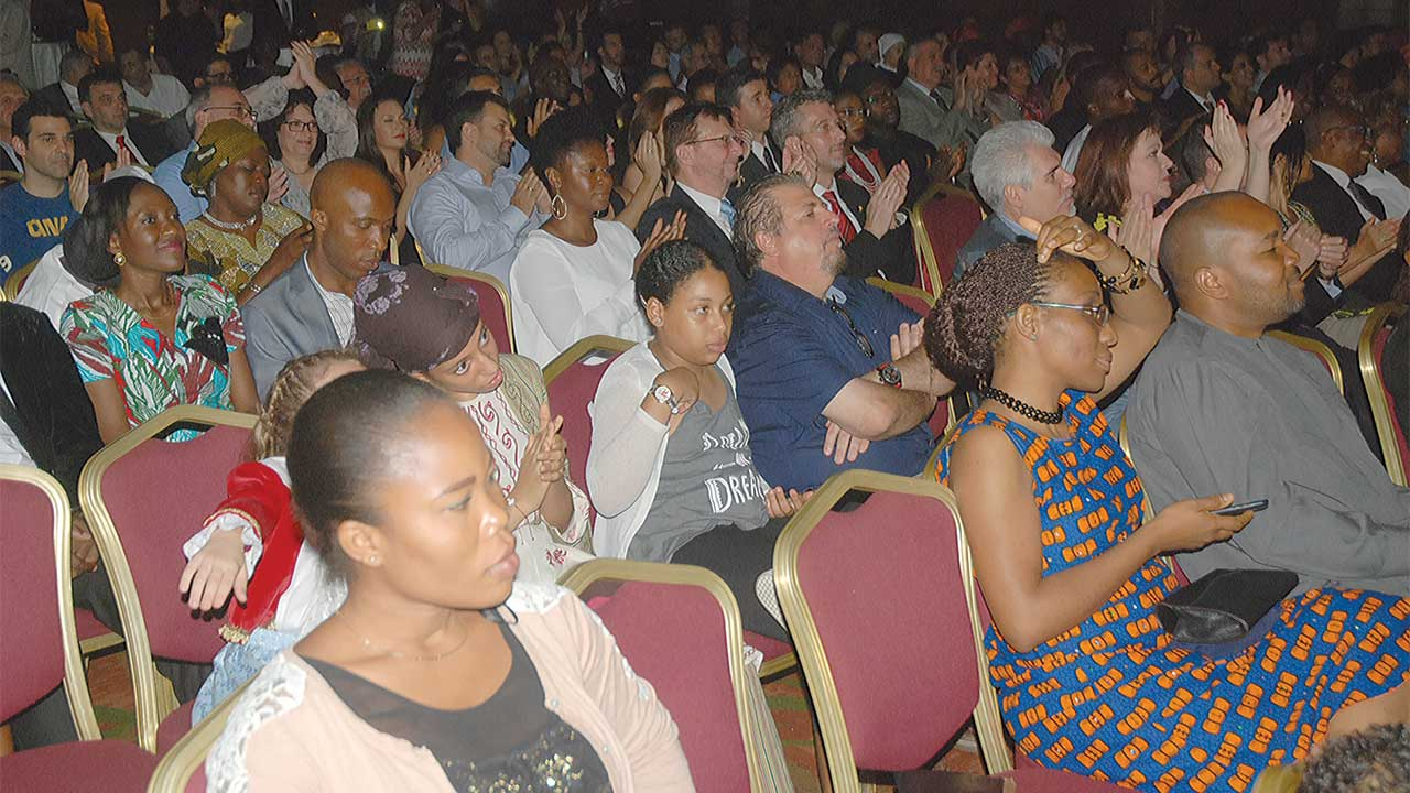 A cross section of nationals and guests at the event