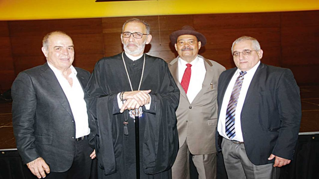 Chairman of Vital Construction Limited, Varnavas Varnava (left); His Eminence, Archbishop Alexander Gianiris of Greek Orthodox Archdiocese of Nigeria; Chief Operating Officer of The Guardian, Dr. Alexander Thomopulos; and the Consul, Embassy of Greece in Nigeria, Lykourgos-Antonios Kaplanis at the celebration of Greek National Day in Lagos…at the weekend PHOTO: SUNDAY AKINLOLU