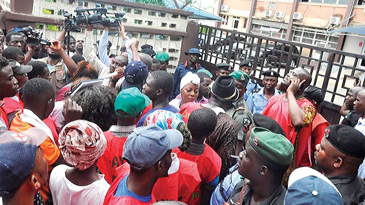 A cross section of the protesters...yesterday PHOTO: FEMI ADEBESIN-KUTI
