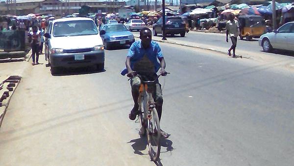 A section of Iyana Ejigbo road