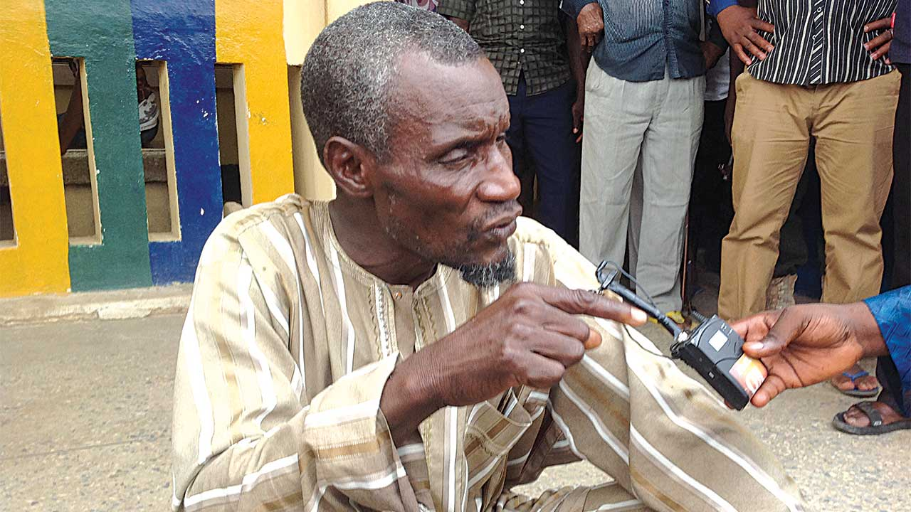 Illiyasu, suspected sponsor of the attack after being arrested by the police PHOTO: CHARLES APEJI