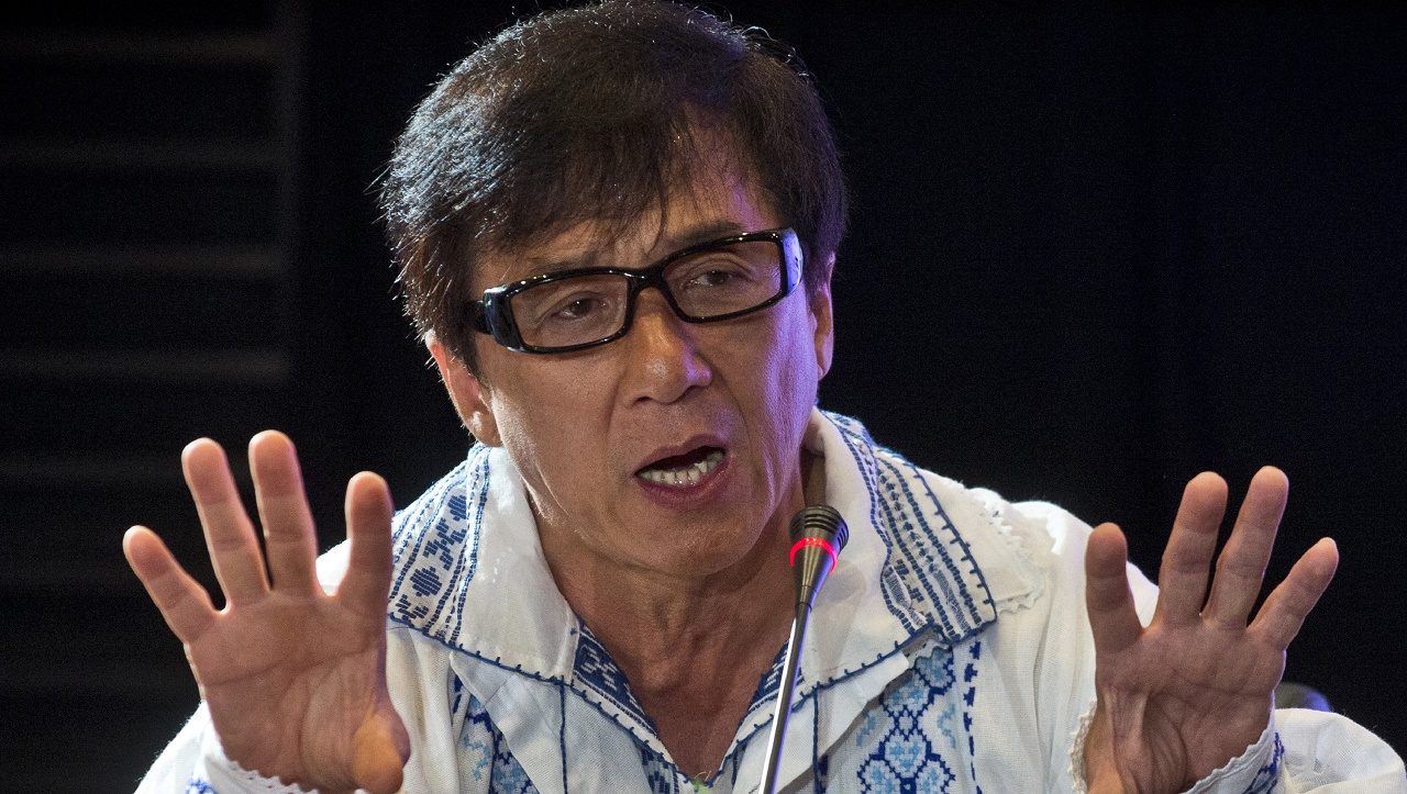 (FILES) This file photo taken on September 11, 2014 shows Hong Kong actor Jackie Chan during a press conference at a cinema hall in Bucharest. Bollywood's Amitabh Bachchan and martial arts movie star Jackie Chan are among celebrities who feature on April 4, 2016 in a massive leak of documents, some of which reveal hidden offshore assets. / AFP / DANIEL MIHAILESCU