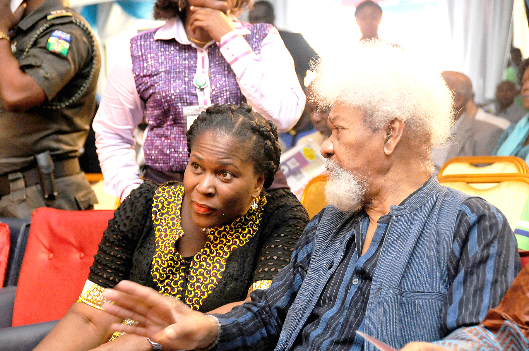 Prof. Wole Soyinka (right) and Koko Kalango at the opening of the World Book Capital, Port Harcourt