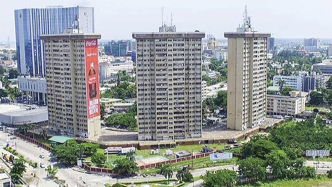 Aerial view of Victoria Island, Lagos PHOTO: Cluttons