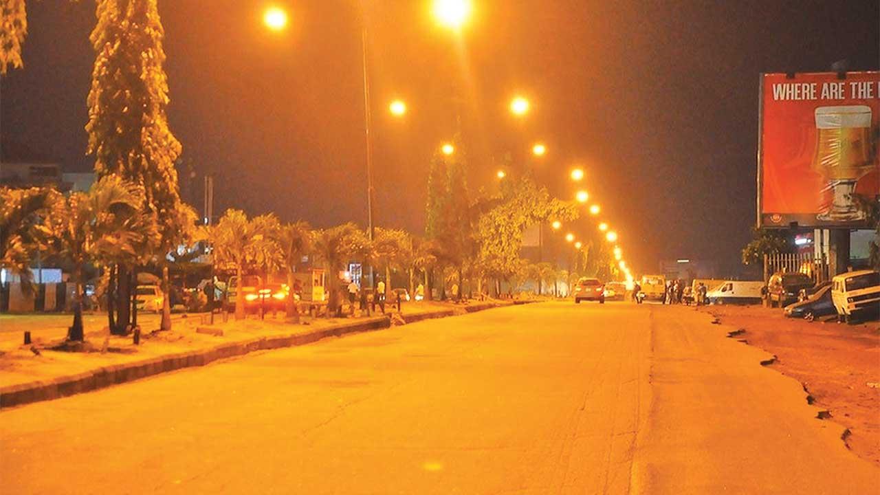 7 & 8 Bus Stop, Airport Road...at night