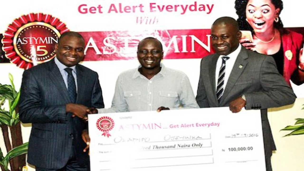 Mr Oladipo Ojeyinka, a Fish Farmer, emerges March Star Winner in the ongoing Astymin Get Alert Promo.