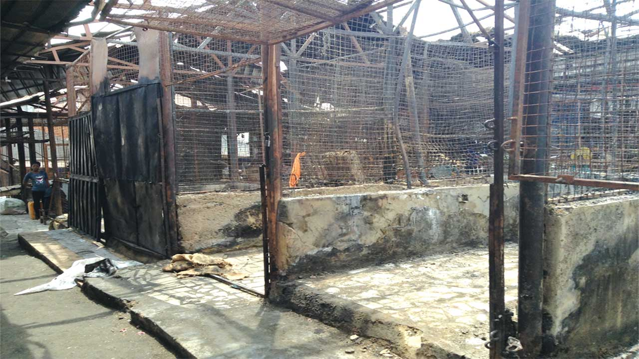 FILES - Burnt shops following the March 29, 2014 fire incident at Garki Model Market, Abuja PHOTO: ITUNU AJAYI