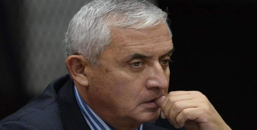 Guatemalan ex-President Otto Perez attends a hearing at the Supreme Court in Guatemala city.
