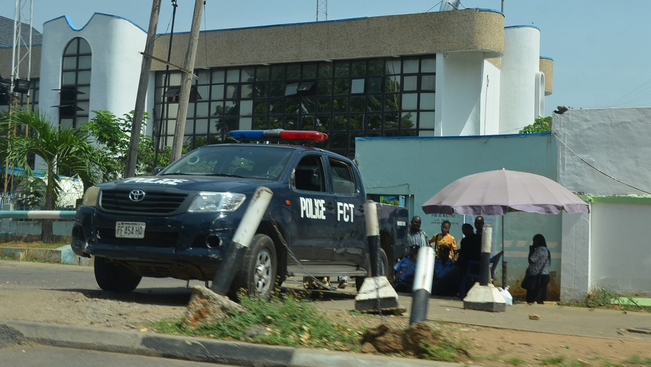 Office of Nigeria Football Federation(NFF) taken over by Nigerian Police as a result of lingering crises in the Glass House Abuja Yesterday 11/04/16. Photo Ladidi Lucy Elukpo.