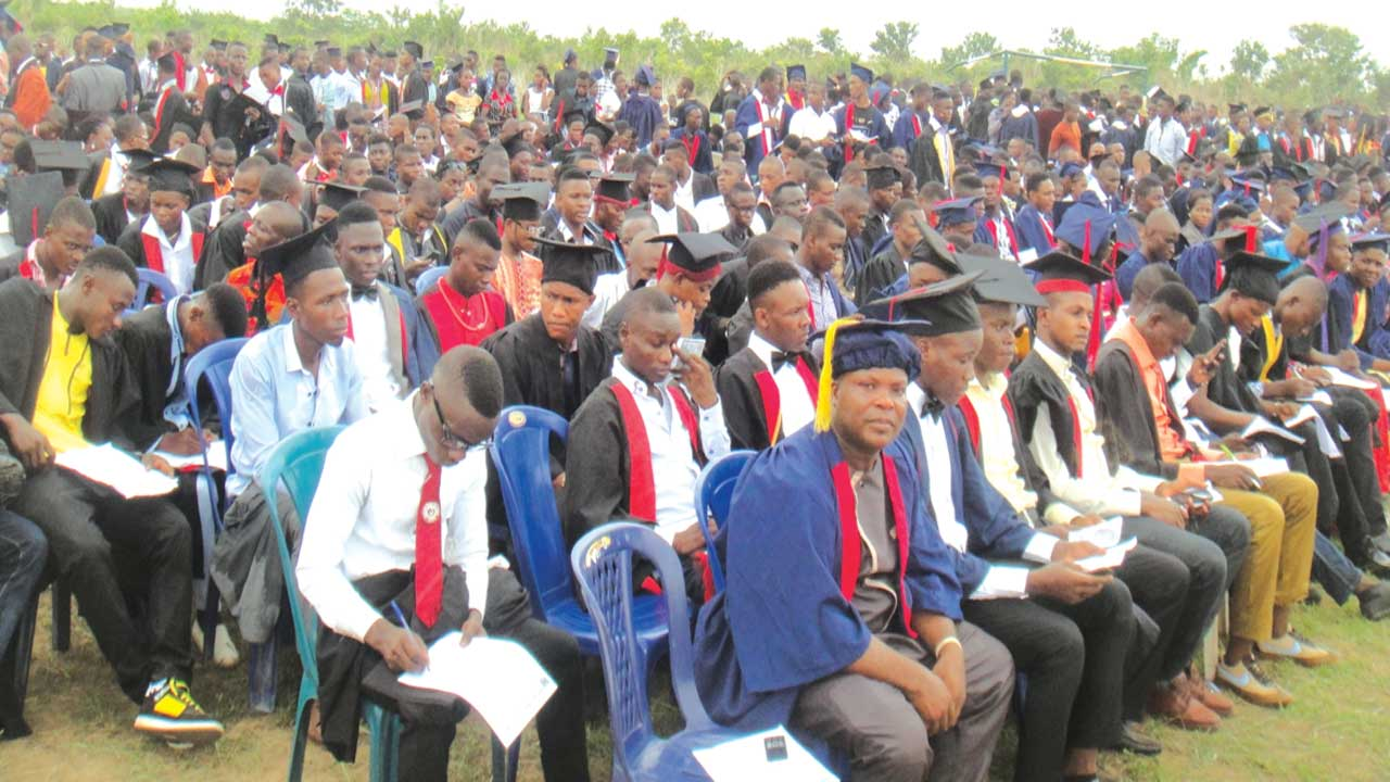 Matriculating students of Akanu Ibiam Federal Polytechnic, Unwana.