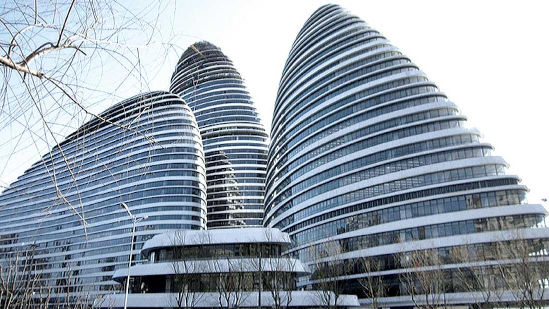 Zaha Hadid's Galaxy Soho in Wangjing