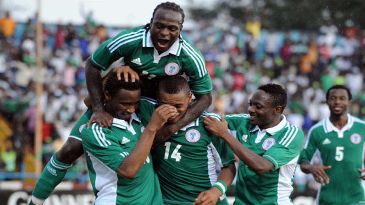 Super Eagles celebrate victory