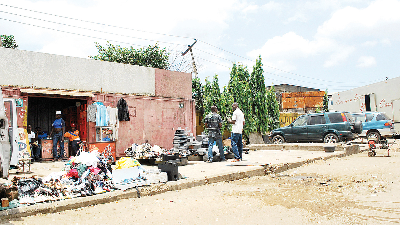 Used items on display... Lagos. PHOTO: AYODELE ADENIRAN