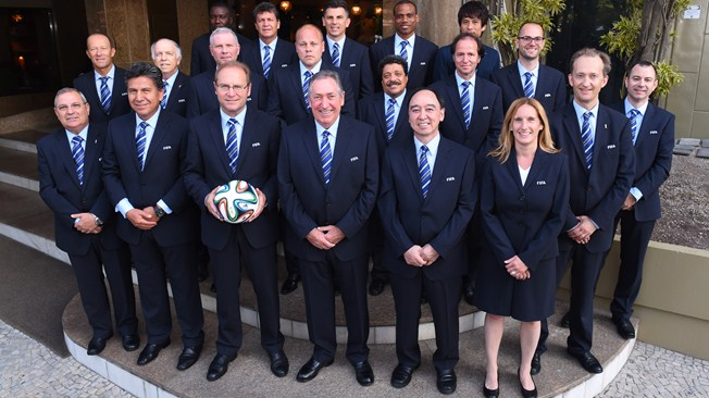 Sunday Oliseh (4th from left on third row) recently resigned as the coach of Nigeria's Super Eagles. PHOTO: FIFA