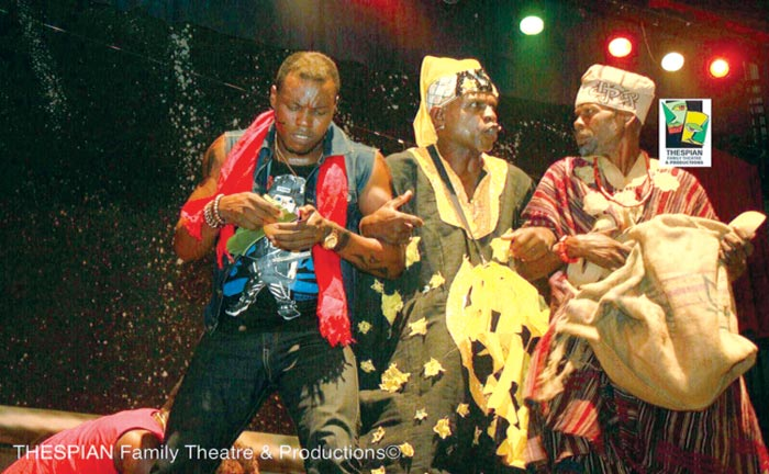 A scene from the play Itan performed in Lagos ...Last week