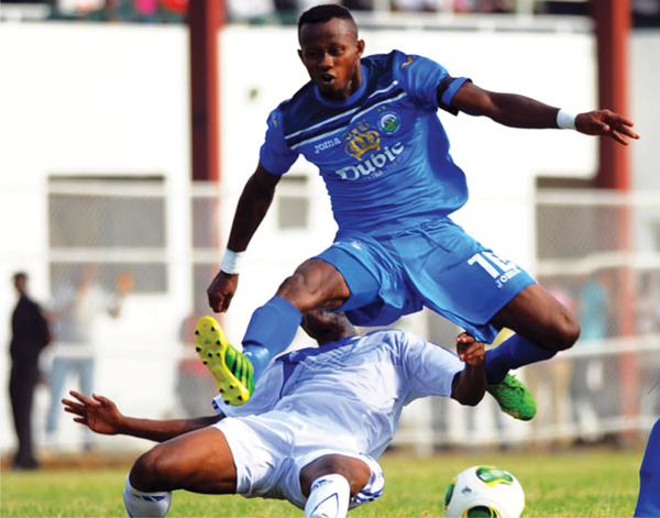 Mfon Udoh was at his devastating best at the Adokie Aimiesiamak Stadium, Port Harcourt, where his hat-trick led Enyimba to a 3-0 defeat of Etoile du Sahel in a CAF Champions League qualifier…yesterday.