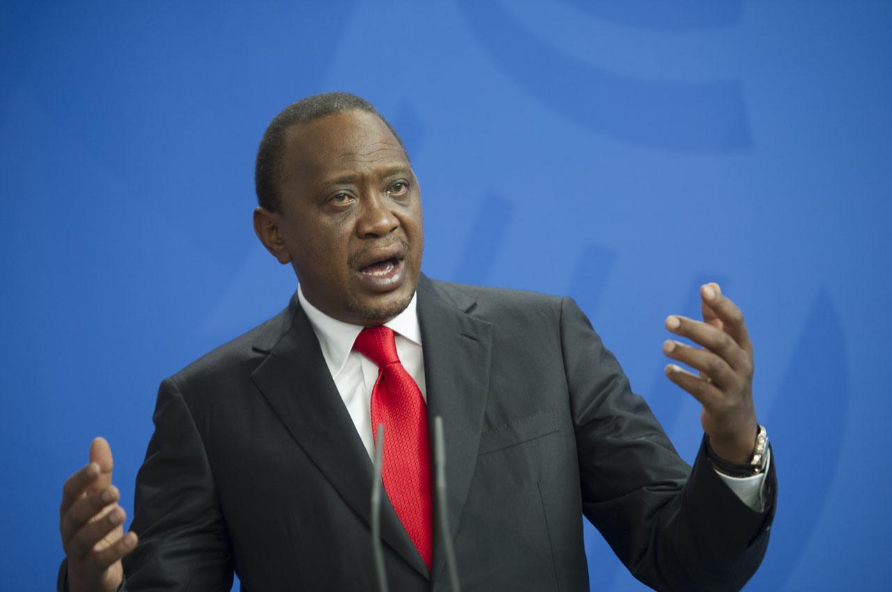 Kenyan President Uhuru Kenyatta . / AFP PHOTO / STEFFI LOOS