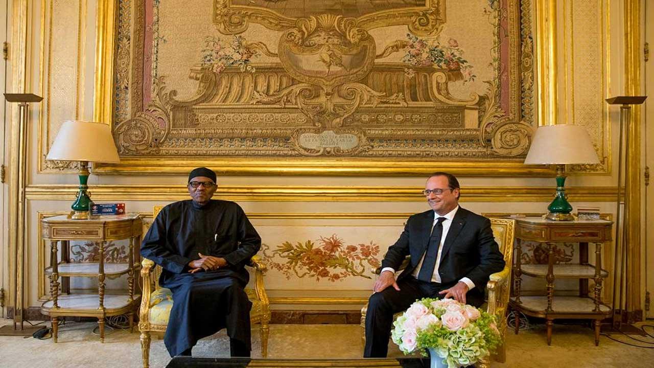 President Muhammadu Buhari and France President.