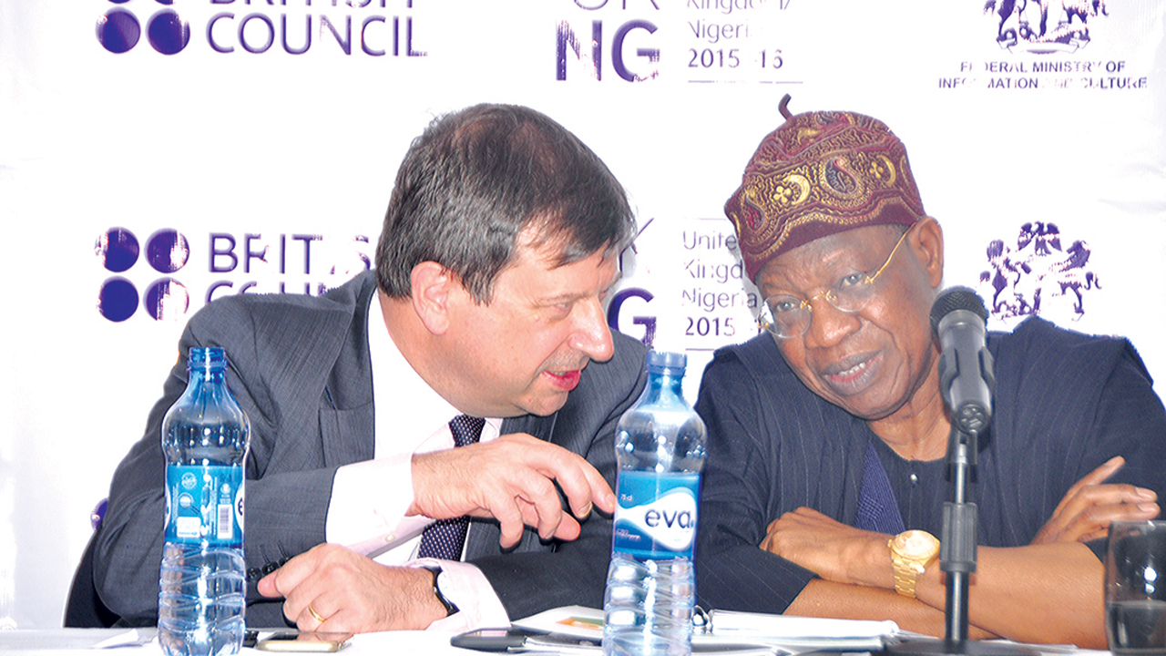 British High Commissioner to Nigeria, Paul Artwright, and Minister for Information and Culture, Lai Mohammed