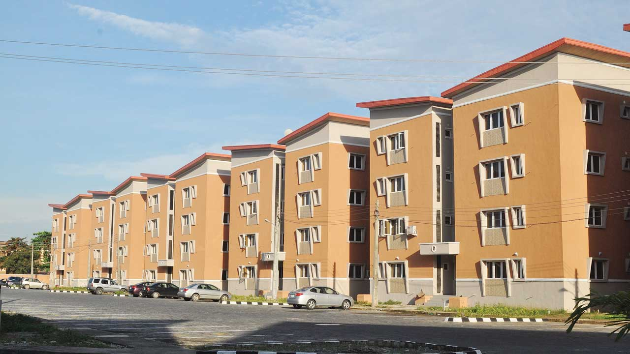 A housing estate in Lagos