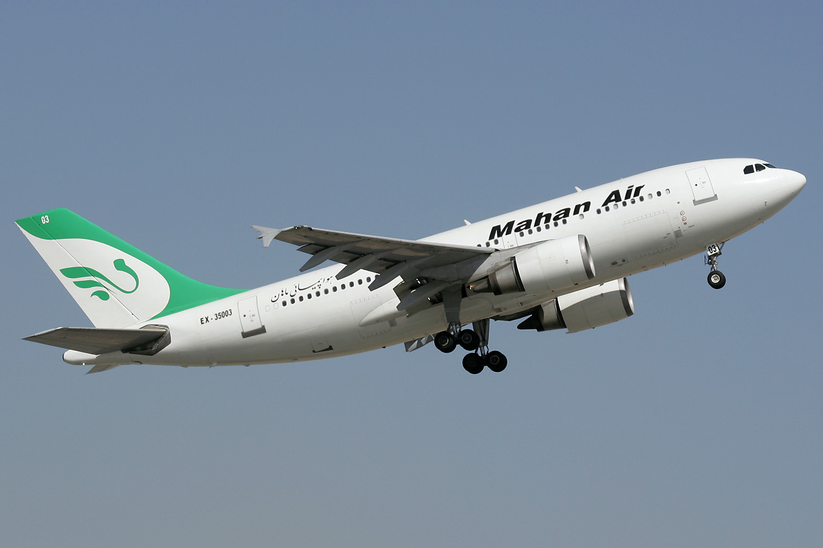 A Mahan Air Airbus A310-300, just departed from Dubai International Airport in 2009. PHOTO:WIKIPEDIA