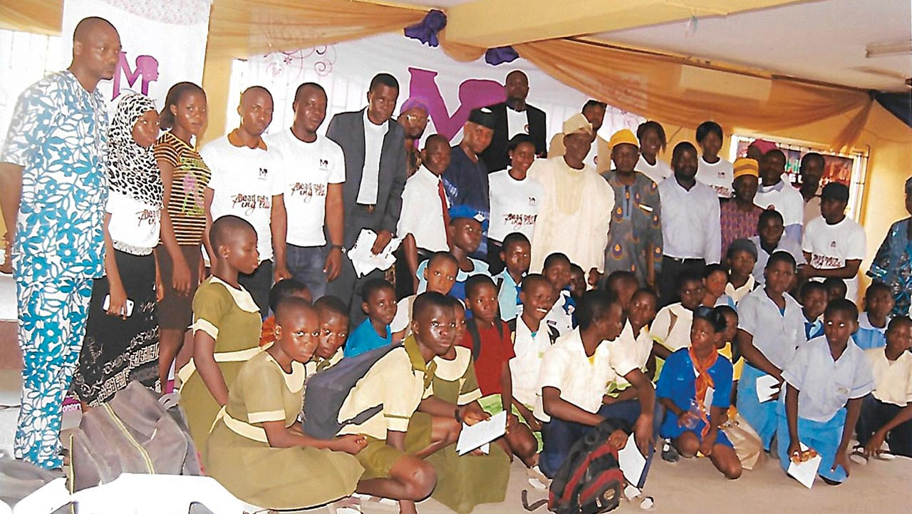Guests and students at the Community reading and launch of the book, How Students can Fly with Colours