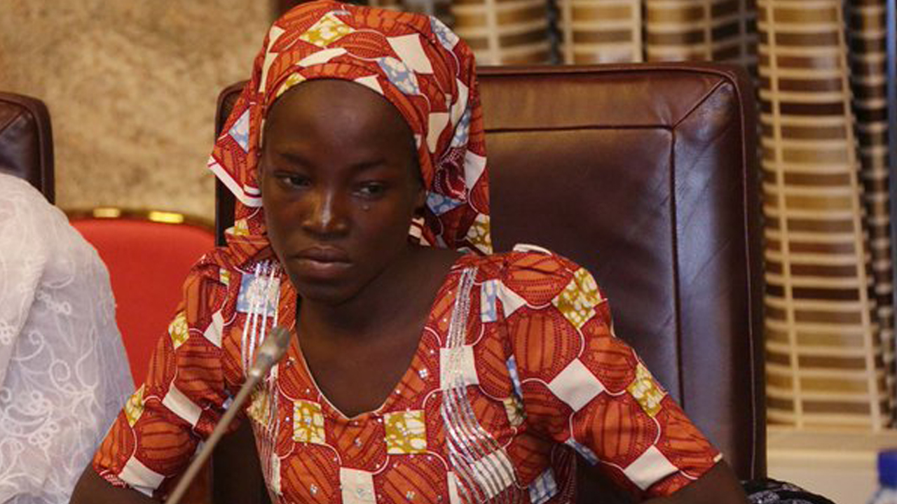 Amina Ali Nkeki was rescued with her baby by civilian vigilantes and troops on Tuesday