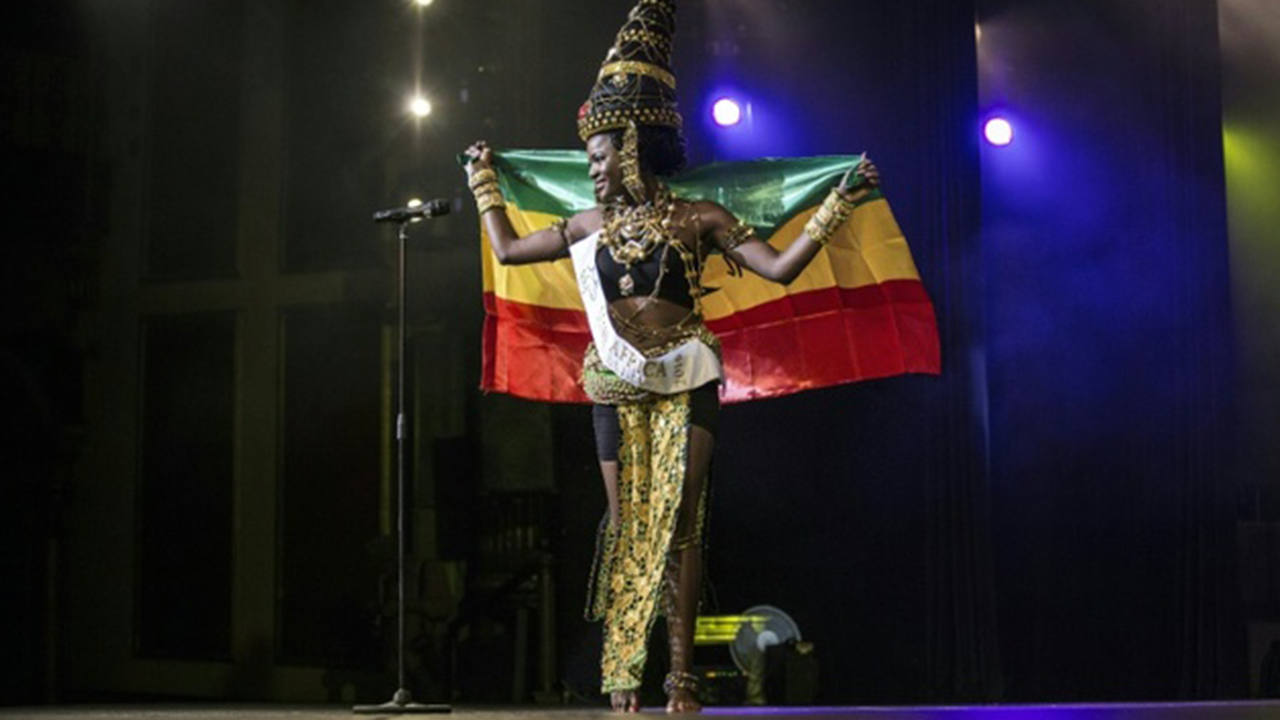 Miss Ghana, Rebecca Asamoah, is crowned the first ever Miss Africa Continent in Johannesburg, South Africa.