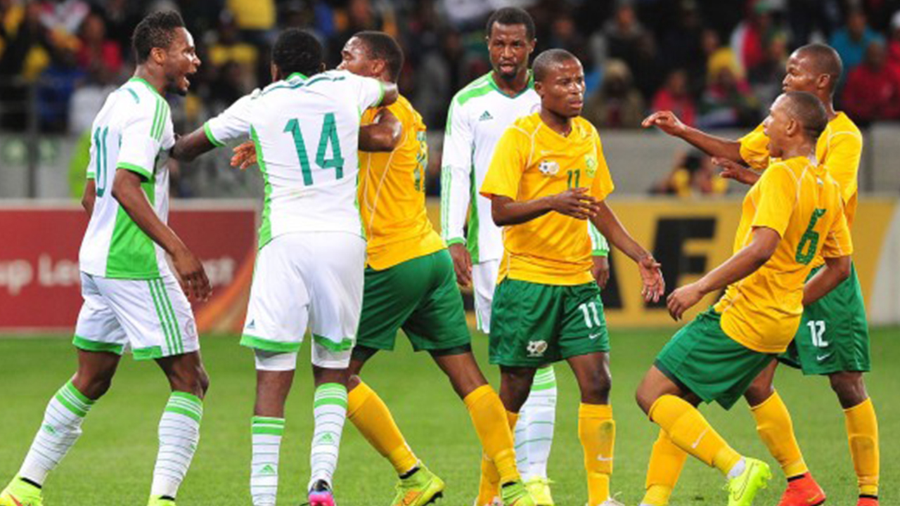 Nigeria vs South Africa in the 2015 AFCON Qualifier Match, played in Uyo, Akwa Ibom State in 2014